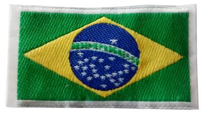 Etiqueta da bandeira do Brasil